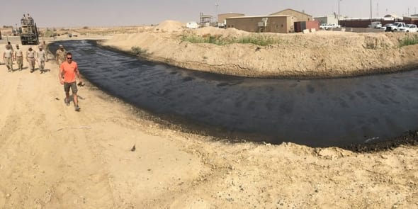 haul road in camp Al Jaber, Kuwait